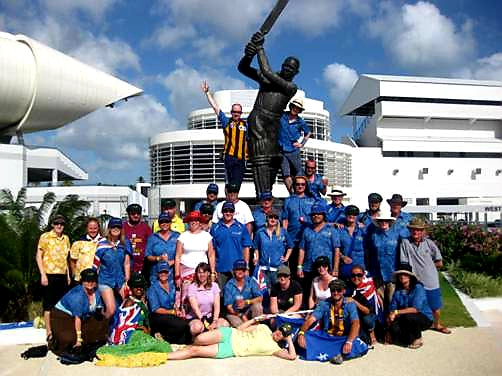 Australian Cricket Tours - Team Photo In Front Of Sir Garfield Sobers Statue Outside Kensington Over, Barbados