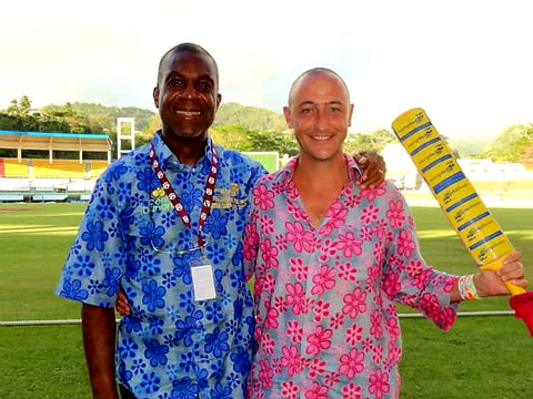 Australian Cricket Tours - West Indies Great Michael Holding With Luke 'Sparrow' Gillian