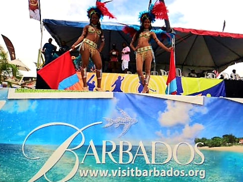 Australian Cricket Tours - Visit Barbados Promotion Stage In Kensington Oval