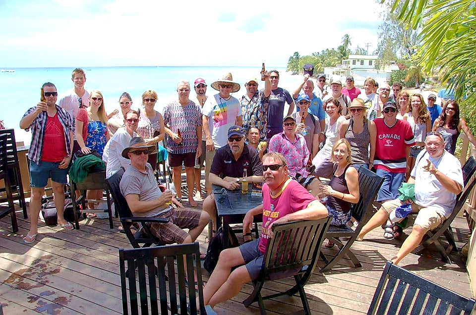 Australian Cricket Tours - Team Photo At Yellowbird Hotel, St Lawrence Gap, Barbados