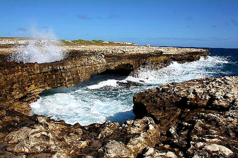 Australian Cricket Tours - Devil's Bridge As Seen From The Shoreline At Willikies, Antigua
