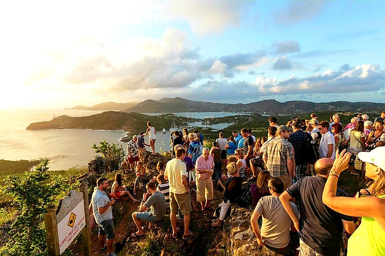 Australian Cricket Tours - Party Goers At Shirley Heights For The Sunday Session, Antigua