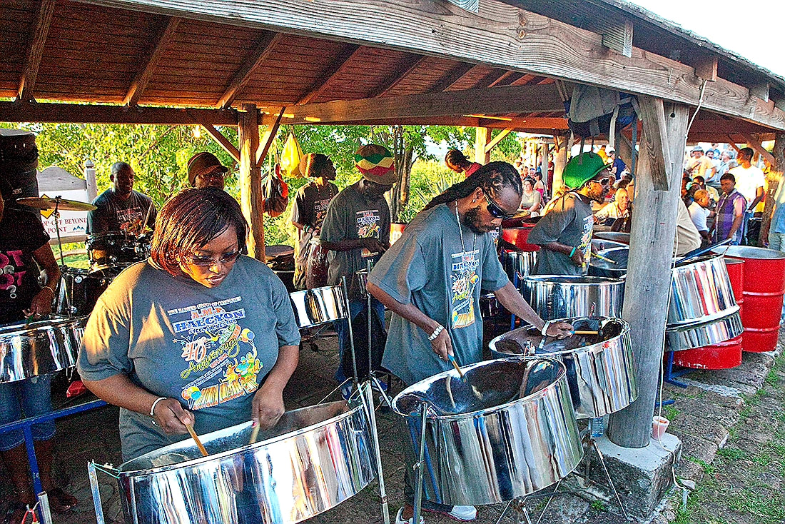 Australian Cricket Tours - Tin Pan Drummers At Shirley Heights Lookout, Antigua