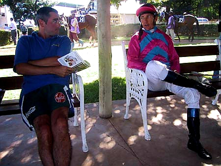Australian Cricket Tours - Blair MacDonald Has A Chat With South Africa's Leading Jockey, Kevin Shea At Bloemfontein Racecourse