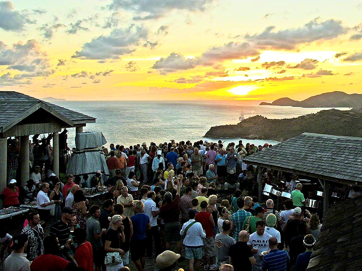 Australian Cricket Tours - Sunset Session At Shirley Heights Lookout, Antigua