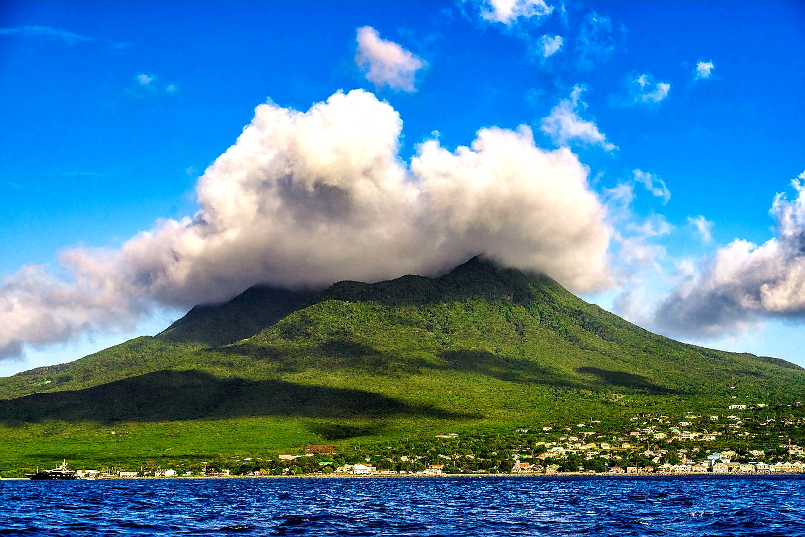 Australian Cricket Tours - Nevis Peak Shrouded In Cloud