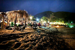 Australian Cricket Tours - The Monkey Bar By Night On Frigate Bay, St Kitts