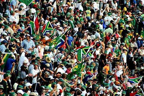 Australian Cricket Tours - South Africa Flags Awash The Terraces At The Cricket In Centurion