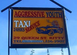 Australian Cricket Tours - Aggressive Youth Taxi Service, Our Transport To Bourda Oval, Georgetown, Guyana, In 2003