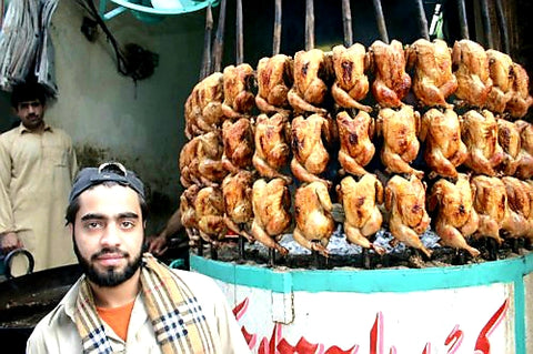 Australian Cricket Tours - Grilled Chicken Is One Of The Most Popular Foods In Pakistan. This Fellow Has 36 Chickens On The Spit