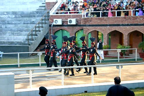 Australian Cricket Tours - Pakistan Rangers Marching To Close The Border Gate Between Pakistan and India, Wagah, Lahore, Pakistan