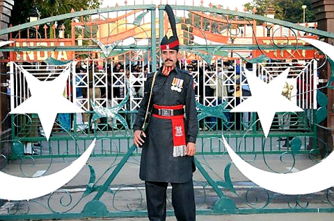 Australian Cricket Tours - A Pakistan Ranger At The Border Gate Between Pakistan and India, Wagah, Lahore, Pakistan