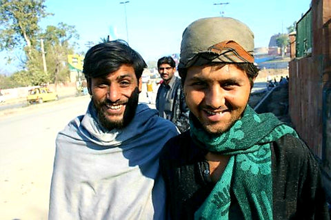 Australian Cricket Tours - Two Young Pakistani Men Are Smiling Broadly When Having Their Photo Taken On My Last Australian Cricket Tour To Pakistan. We Are Excited By Australia Playing Cricket Again In Pakistan, In Feb 2022.