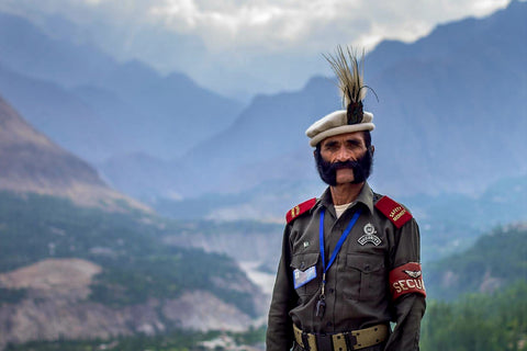 Australian Cricket Tours - A Soldier Atop The Hunza Valley, Pakistan