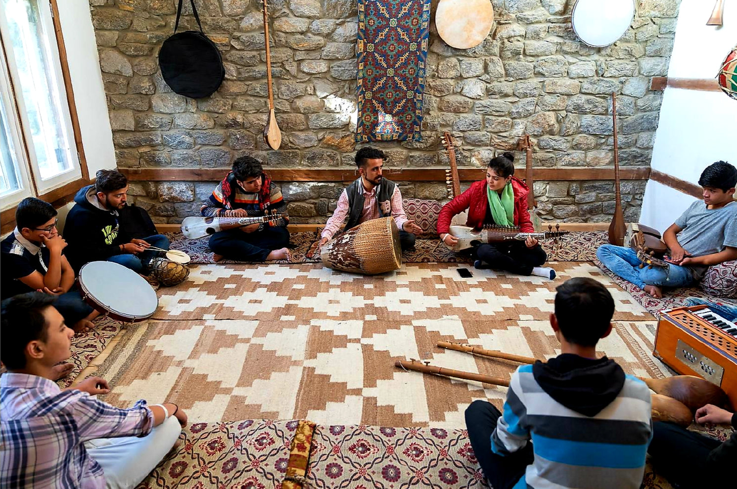 Australian Cricket Tours - Music Lessons With Hunza People In The Hunza Valley, Pakistan