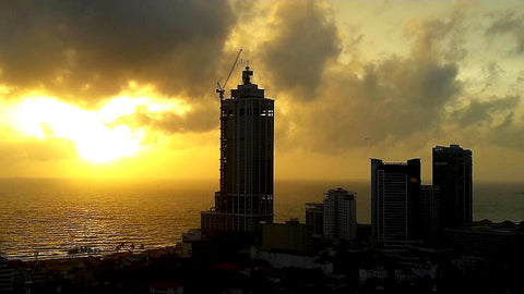 Australian Cricket Tours - The Sunset Views From The Rooftop Of Our Colombo Hotel
