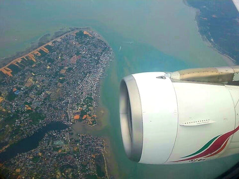 Australian Cricket Tours - The View From The Window Of Sri Lankan Airlines Arriving Into Bandaranaike International Airport, Colombo, Sri Lanka