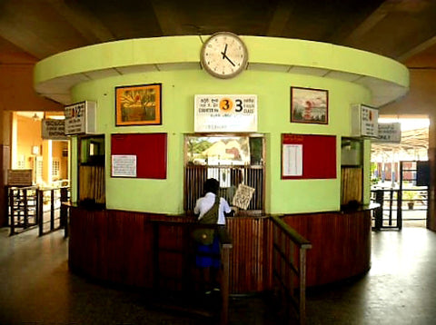 Australian Cricket Tours - The Colonial Ticket Booth Of Galle Railway Station, Galle, Sri Lanka