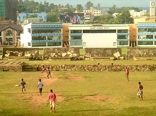 Australian Cricket Tours - Cricket Being Played On Galle Fort, With Galle International Cricket Ground Behind, Galle, Sri Lanka