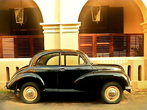 Australian Cricket Tours - A Morris Parked Outside The Old Galle Hotel, Galle Fort, Galle, Sri Lanka