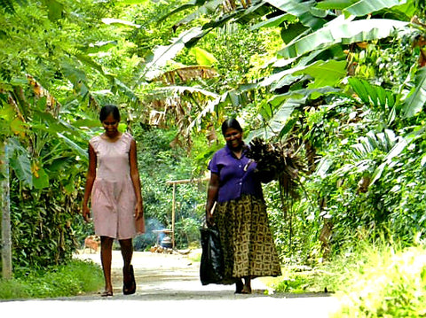 Australian Cricket Tours - Two Ladies Walking, Talking, And Laughing On A Quiet Back Road Outside Galle, Sri Lanka