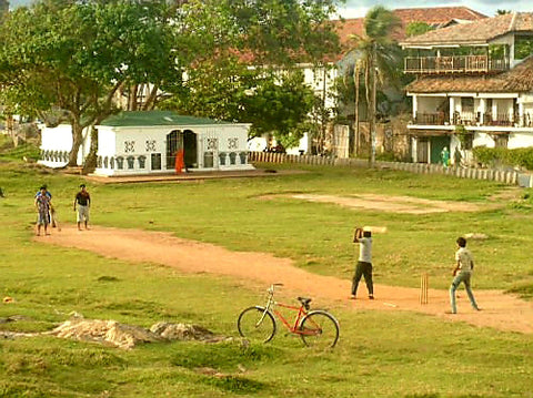 Australian Cricket Tours - On Any Australian Cricket Tour To Sri Lanka, We Always Look For Cricket Being Played, Such As These Boys Smashing A Ball Across The Grassy Ramparts Of Galle's 16th Century Dutch Fort. We Look Forward To Walking The Fort On Our Next Australian Cricket Tour To Sri Lanka In June-July 2022