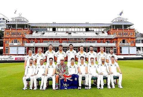 Australian Cricket Tours - Luke Gillian Included In The Australia Team Photograph In Front Of The Pavilion, Whilst Celebrating 200 Australian Test Matches At Lord's Cricket Ground During The Ashes Test Cricket Series 2019 | London