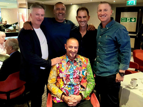 Australian Cricket Tours - Luke Gillian With The Great Steve Waugh, Justin Langer, Brad Haddin, And England's Daly Thompson On The Eve Of The Ashes Test Match At Lord's 2019 | London