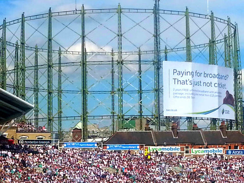 Australian Cricket Tours - The Famous Gasometers Behind The Kia Oval During The Ashes Test Cricket Series 2019 | London | England