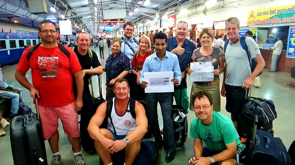 Australian Cricket Tours - A Small Group Of Australian Cricket Tour Supporters Arrive At Agra Railway Station After An Indian Railways Train Journey From New Delhi, India