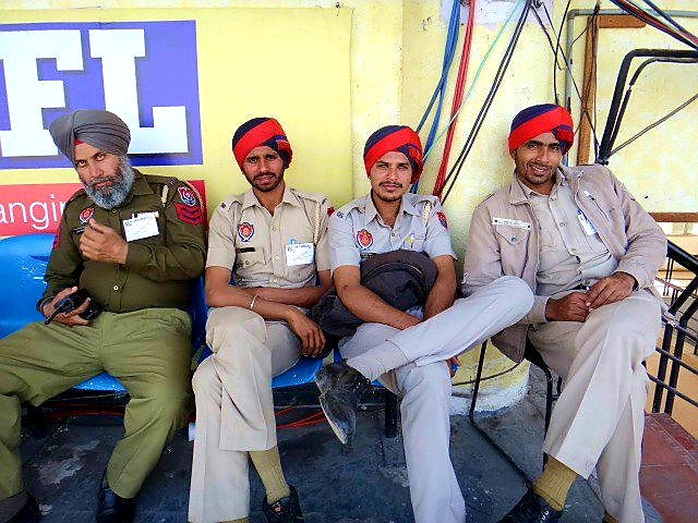 Australian Cricket Tours - Punjabi Police Sit Relaxed At The Game Between Australia and India In Mohali, Chandigarh | India
