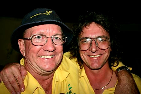 Australian Cricket Tours - Ken Bowden And Jim Sydo Are Two Of Our Longest Serving Awesome People. Their Big Smiles Are A Result Of Australia Defeating India In Nagpur In 2004   India