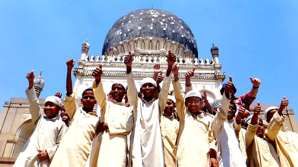 Australian Cricket Tours - Young Boys Cheering For Us At Qutb Shahi Tombs | Hyderabad | India