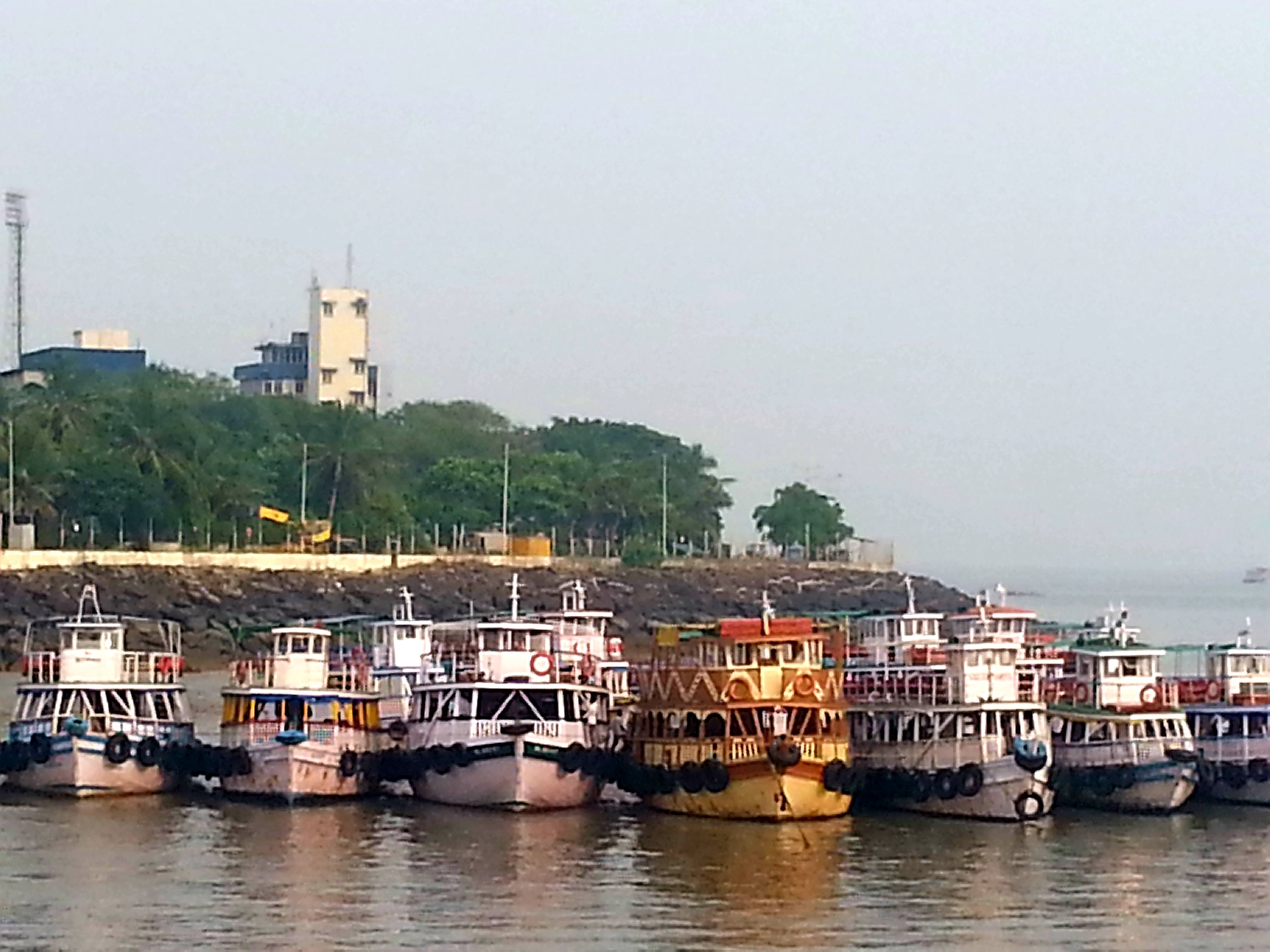 Australian Cricket Tours - Boats Lined Up In The Harbour At The Gateway To India To Take Visitors To Cave Temples At Elephanta Island | Mumbai | India