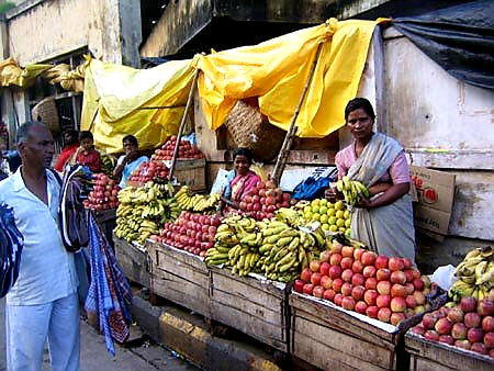 Australian Cricket Tours - There Is Lots Of Fruit To Buy & Eat In Nagpur, India's Orange Capital, But Strangely, Not Too Many Oranges As Seen By This Fruit Cart Opposite Nagpur Railway Station   Nagpur   India