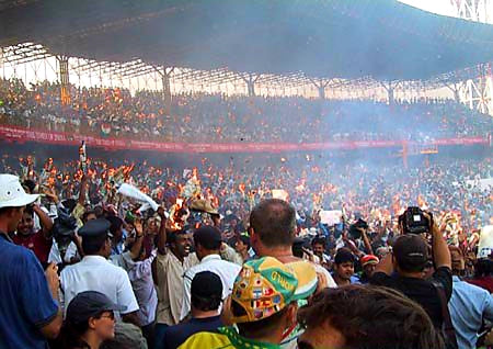 Australian Cricket Tours - Eden Gardens Is On Fire As India Fight Back To Defeat Australia In 2001