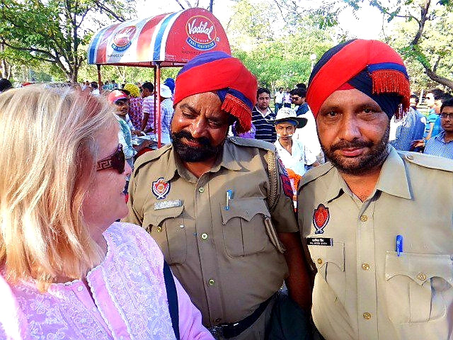 Australian Cricket Tours - The Police Admiring Fiona Stanley At Punjab Cricket Association Stadium, Mohali, Where The Police Are India's Most Friendly And Relaxed | Mohali | India