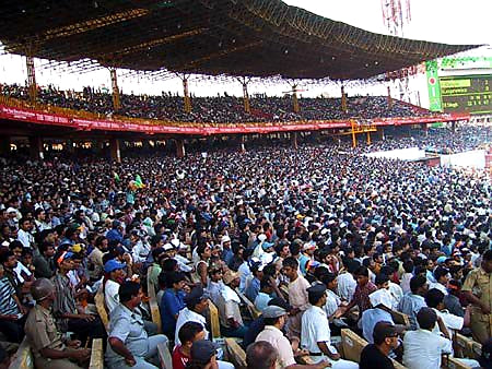 Australian Cricket Tours - The Massive Crowd Fills Every Seat Along The Western Side Of Eden Gardens, Kolkata During The 2nd Test Match Between Australia vs India 2001