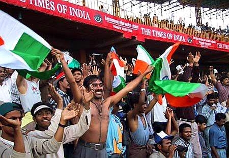 Australian Cricket Tours - Indian Crowd Celebrate Victory At Eden Gardens, Kolkata After The 2nd Test Match Between Australia vs India 2001