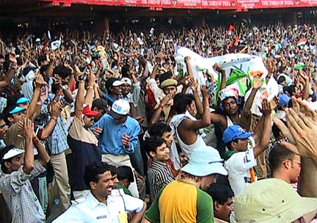 Australian Cricket Tours - The Indian Crowd Is Wildly Excited At Eden Gardens, Kolkata During The 2nd Test Match Between Australia vs India 2001