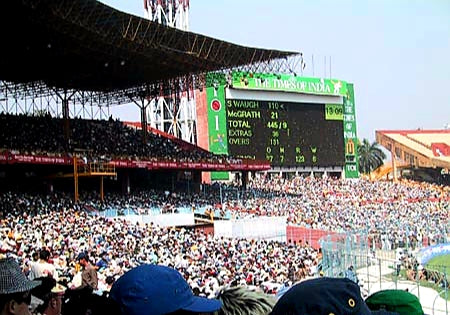 Australian Cricket Tours - The Crowd Is Packed Into Eden Gardens, Kolkata During The 2nd Test Match Between Australia vs India 2001