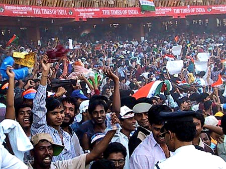Australian Cricket Tours - The Crowd Is Packed In Cheek By Jowl In Eden Gardens, Kolkata During The 2nd Test Match Between Australia vs India 2001