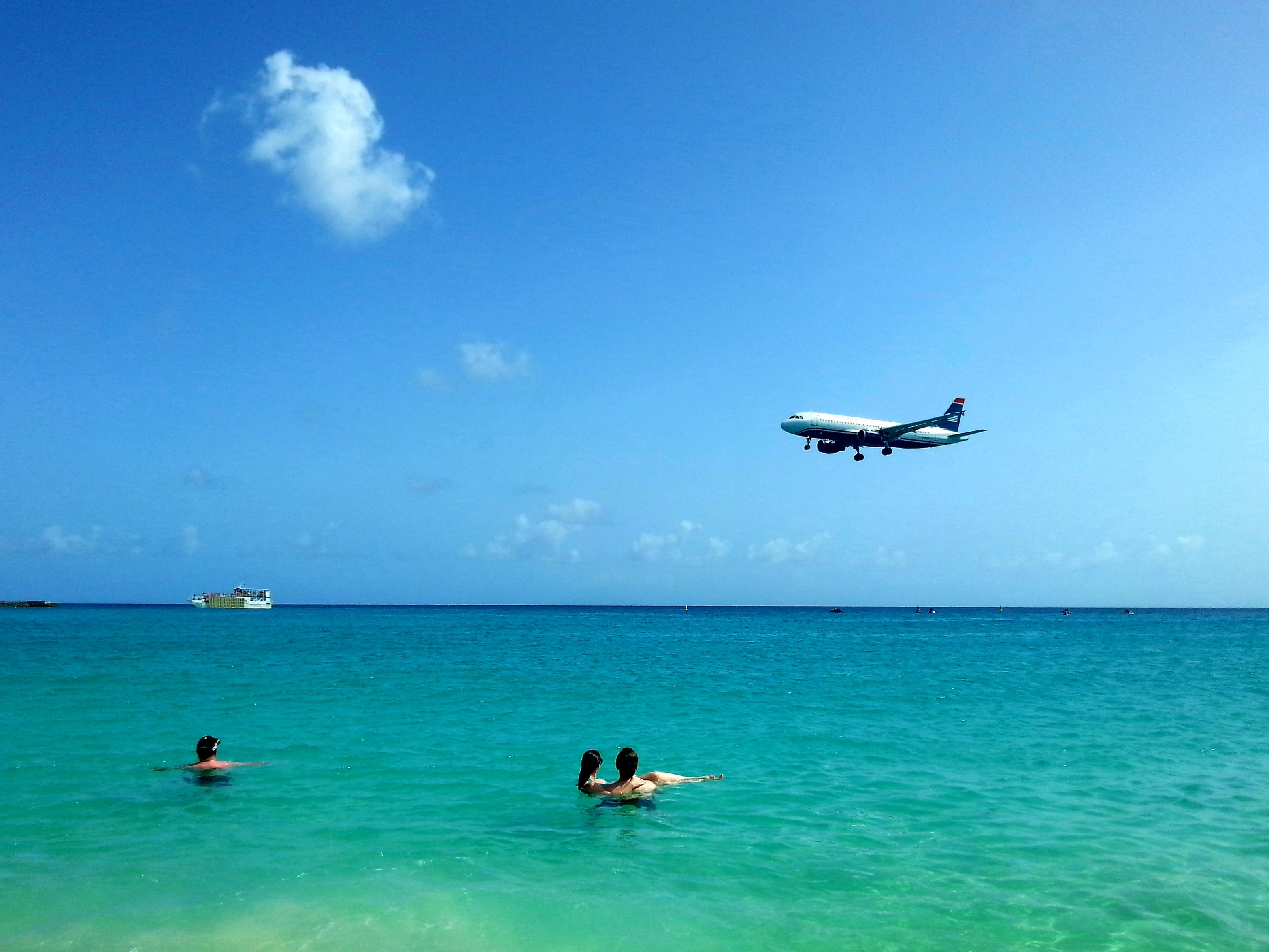 Australian Cricket Tours - Aircraft Landing At Princess Juliana International Airport Almost Touch Your Head As You Swim In The Tranquil Waters Of Maho Beach | St Maarten