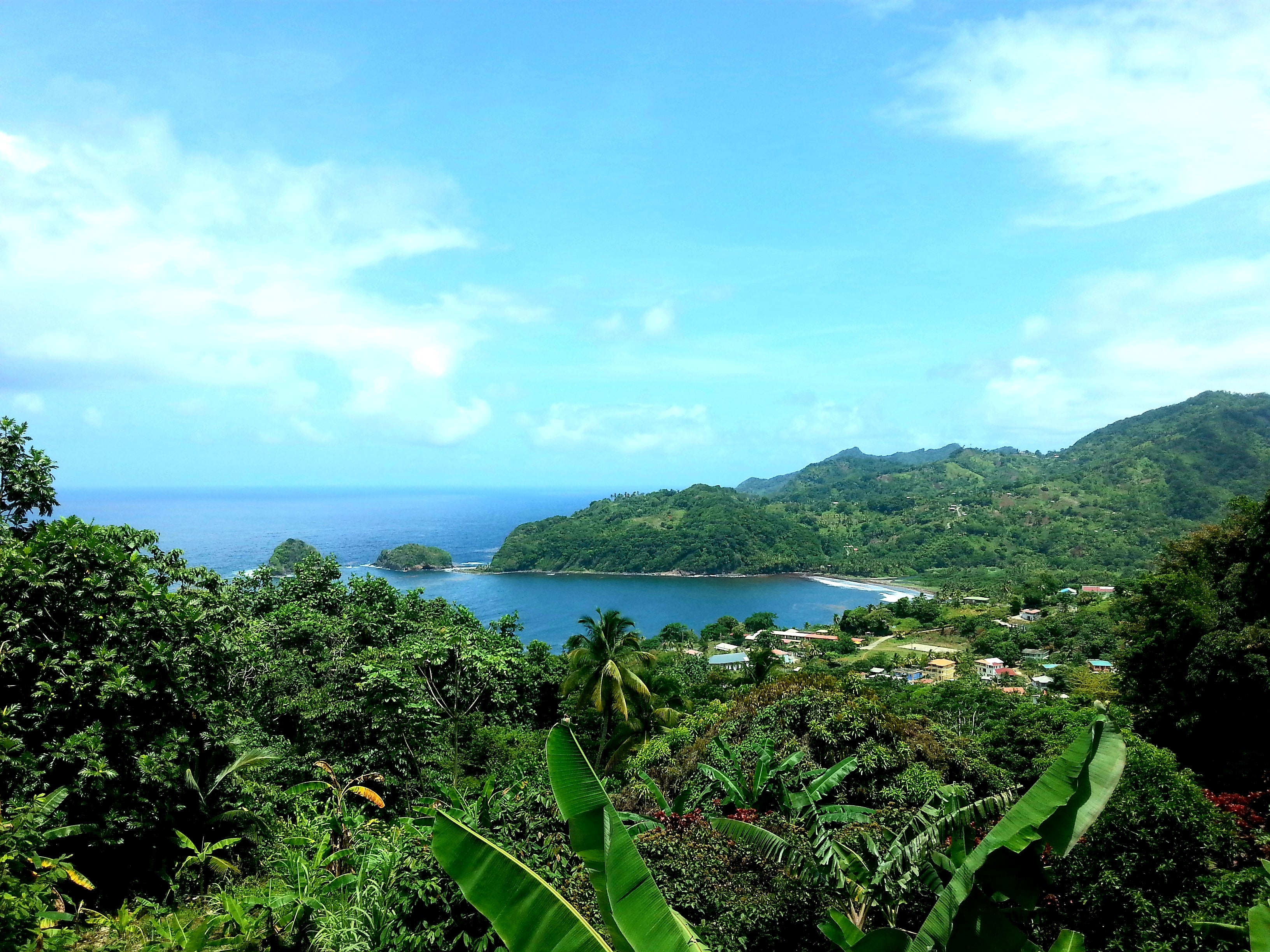Australian Cricket Tours - Lush Dominica As Seen From Isle View Restaurant And Bar Where We Always Stop For Lunch After Arriving At Melville Hall International Airport