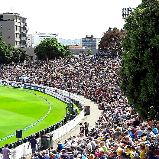 Australian Cricket Tours - Australia Test Cricket Tour To New Zealand 2016 Welcomed Capacity Crowds As There Were Here At The Basin Reserve, Wellington, New Zealand