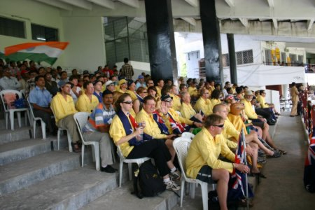Australian Cricket Tours - Just Half Of The Lucky People That Joined Our Australian Cricket Tour To India In 2004 To See Australia Win The Border Gavaskar Trophy In India For The First Time Since 1969   Nagpur   India