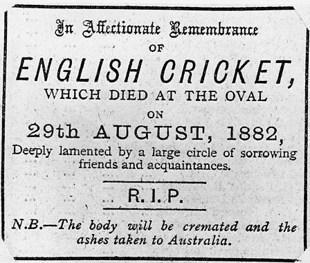 Australian Cricket Tours - English Cricket Obituary That Appeared In The Newspaper The Day After The Oval Test Match Between Australia And England On August 29, 1882 | London | England