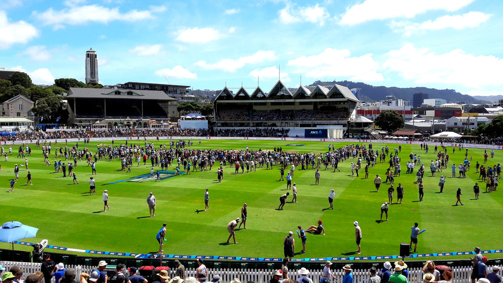 Australian Cricket Tours - The Basin Reserve, Wellington, Awash With Spectators On The Field During The Lunch Break Of The 1st Test Australia Vs New Zealand 2016
