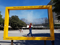 Australian Cricket Tours - Table Mountain See From Cape Town Railway Station, South Africa