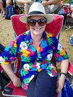 Australian Cricket Tour - A Smiling Spectator Of Ours, Wearing A Bent Banani Floral Shirt, At The Cricket In South Africa